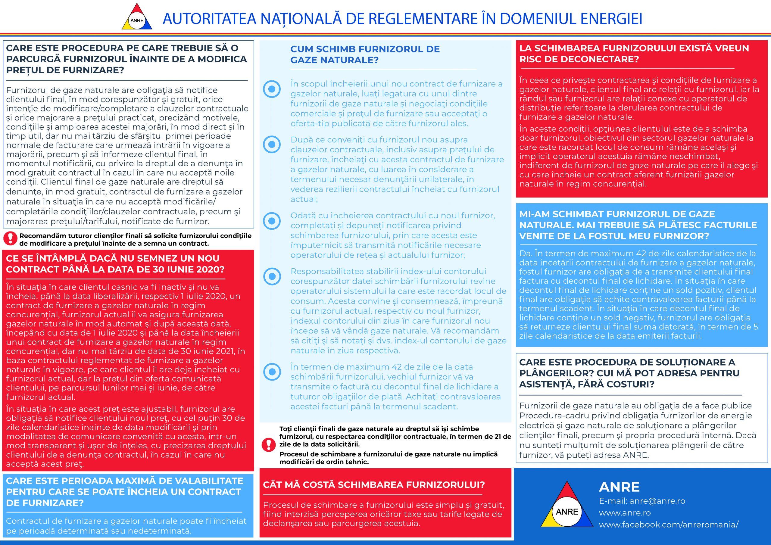 Liberalizarea pietei de gaze naturale – recomandari pentru clientul casnic